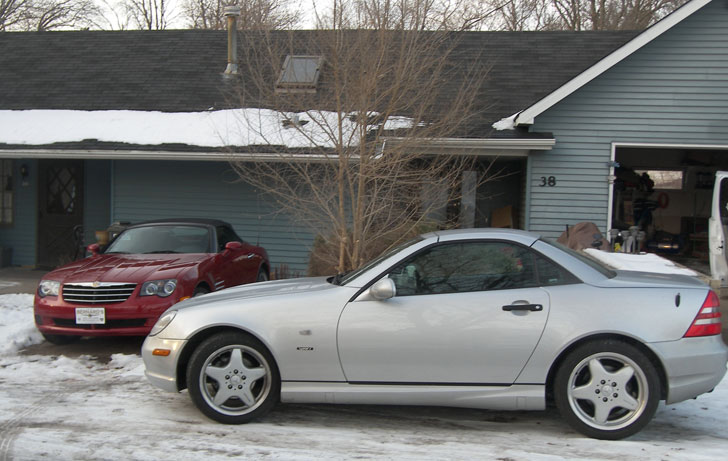 Chrysler Crossfire Roadster. Crossfire amp; SLK at the house a